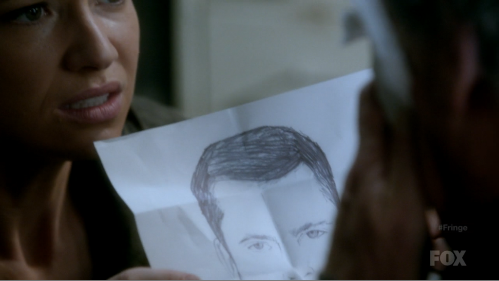 Olivia with a drawing of Peter