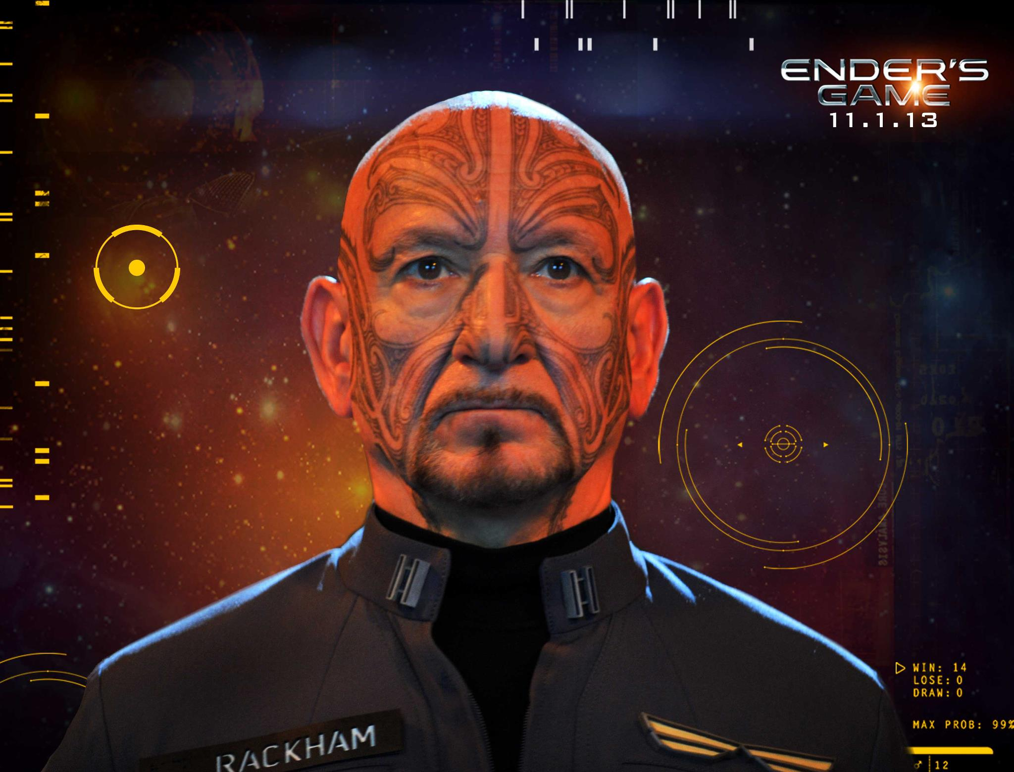 Ben Kingsley as Mazer Rackham - Ender's Game movie
